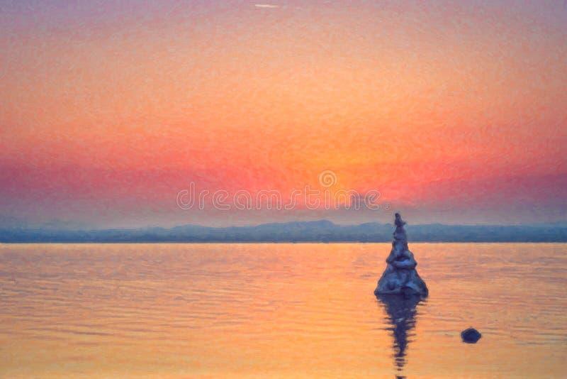Озеро сол в Torrevieja, Испании бесплатная иллюстрация