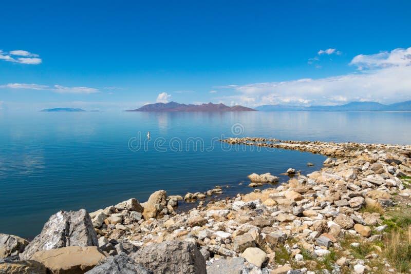 Озеро сол на Солт-Лейк-Сити Соединенных Штатах стоковые фото