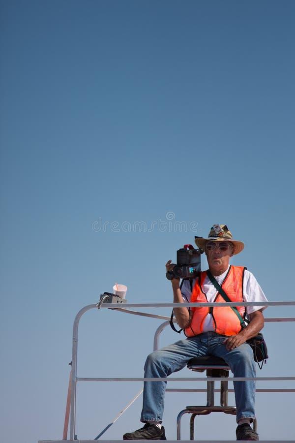 Озеро сол, Юта - 8-ое сентября: Неопознанный человек видеокамеры стоковые фотографии rf