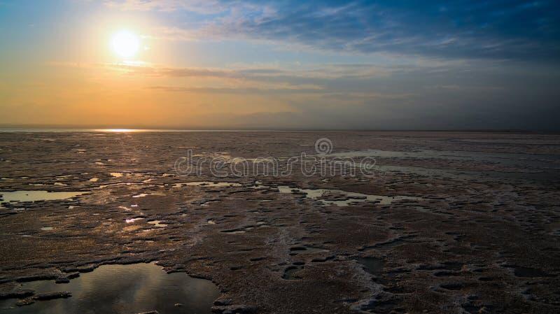 Озеро сол Karum aka Assale или Asale Afar, Эфиопия стоковое изображение