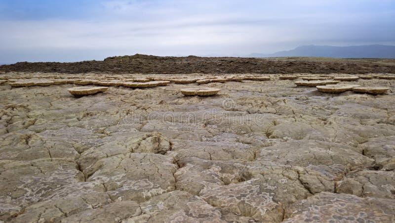 Озеро сол Karum aka Assale или Asale, Danakil Afar Эфиопия стоковая фотография