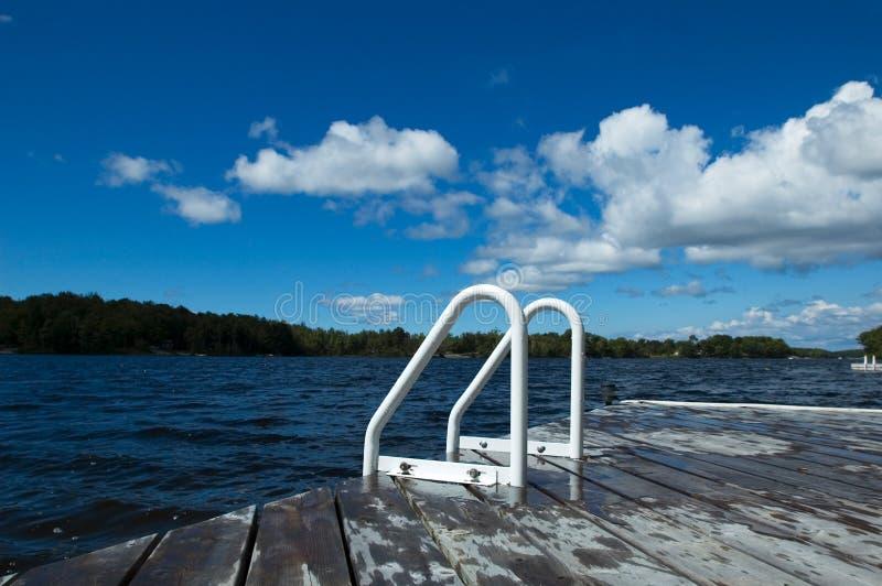 озеро стыковки стоковое изображение