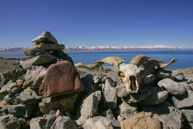 Озеро Тибет Nam Co стоковое изображение rf