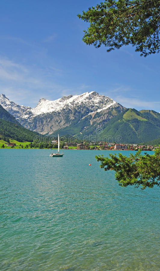 озеро Тироль achensee стоковое изображение