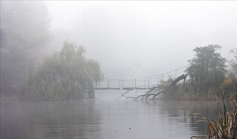 озеро тумана стоковое изображение rf