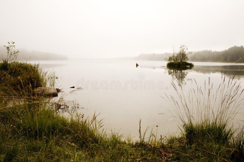 озеро тумана стоковое изображение