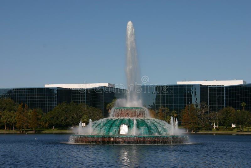 озеро фонтана Eola Стоковые Фотографии RF