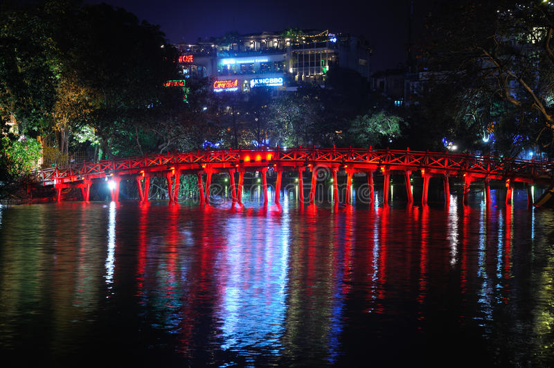 Озеро Ханой Hoan Kiem стоковое изображение