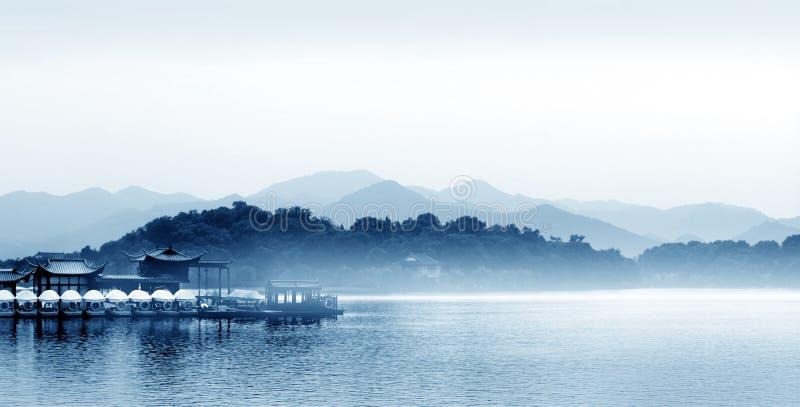 Озеро Ханчжоу западное в Китае стоковое изображение rf