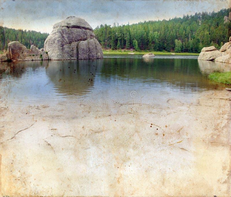 озеро холмов grunge предпосылки черное стоковое фото rf