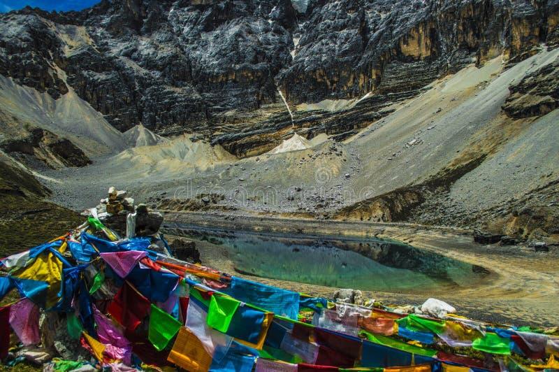 Озеро 5 цветов, Daocheng&Aden Сычуань Китая стоковое изображение rf