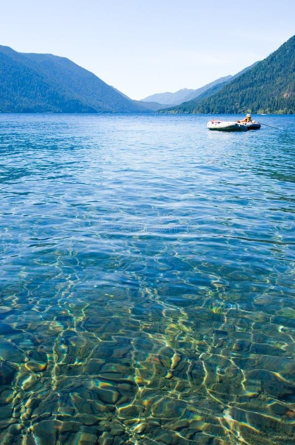 озеро шлюпок стоковая фотография rf