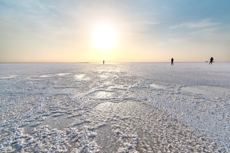 Озеро эл ишака, в депрессии Danakil стоковые изображения rf