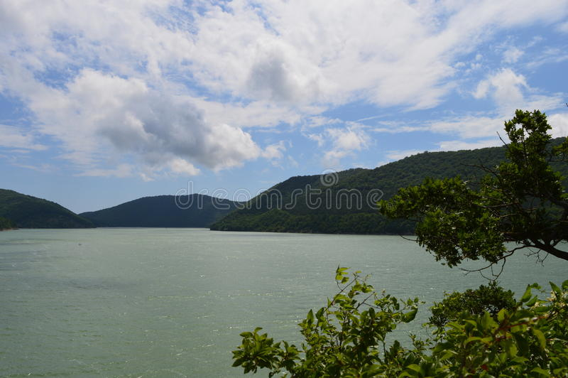 Озеро Abrau стоковое фото rf