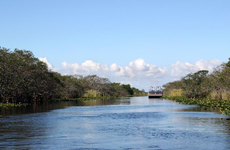 озеро airboat стоковое изображение