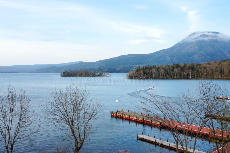 Озеро Akan, Хоккаидо, Япония стоковые фотографии rf