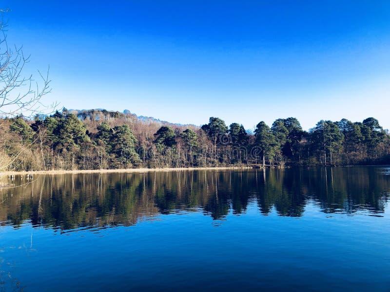 Озеро Ampleforth, Йоркшир стоковая фотография