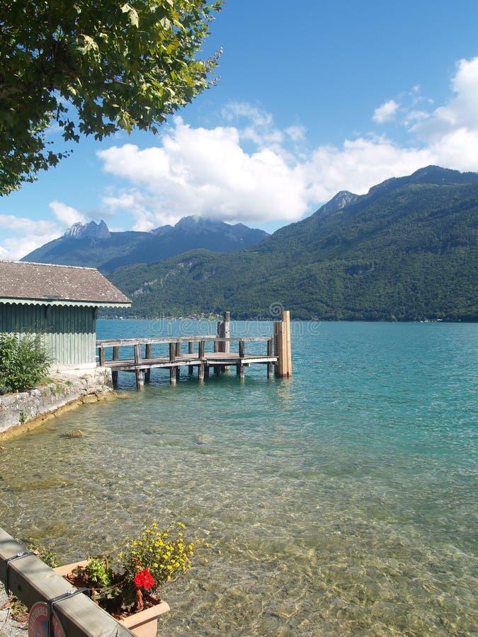озеро annecy стоковая фотография