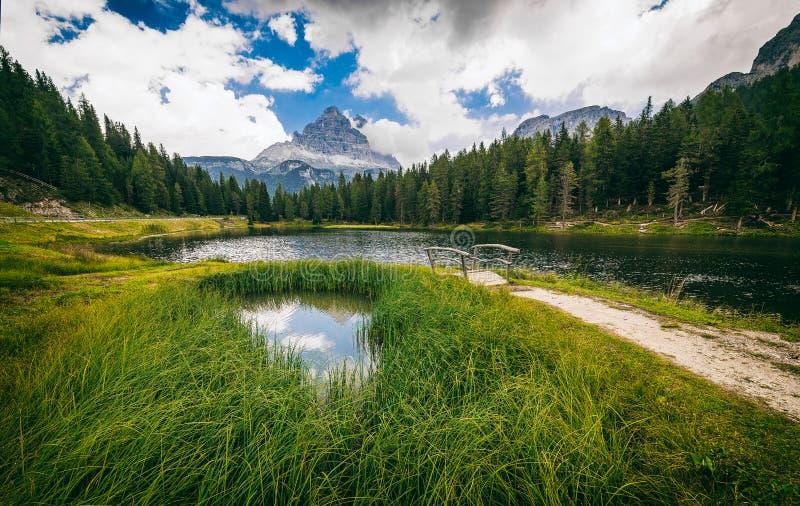 Озеро Antorno стоковая фотография rf