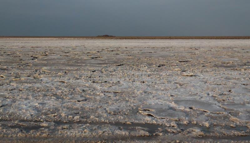 Озеро Assale или Asale Karum озера сол aka, Danakil Afar Эфиопия стоковое фото