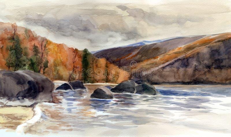 озеро baikal иллюстрация штока