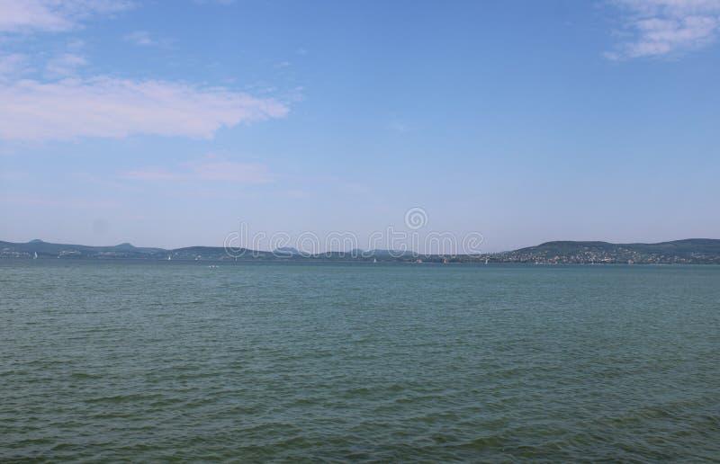 Озеро Balaton на Balatonboglar стоковое изображение rf