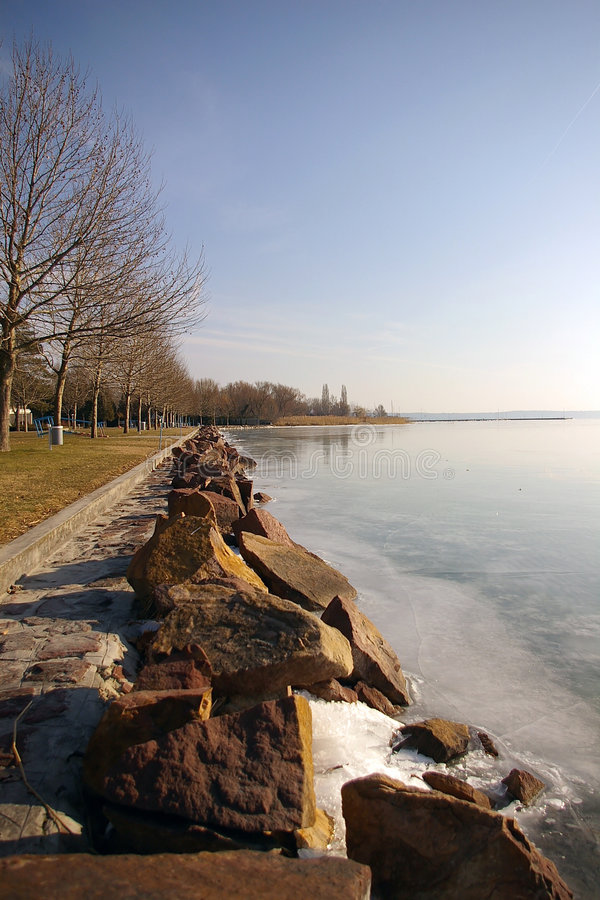 озеро balaton стоковое изображение