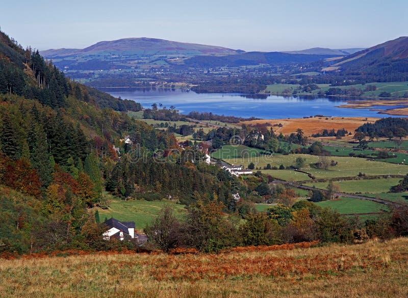 Озеро, Bassenthwaite, заречье озера, Великобритания. стоковые изображения