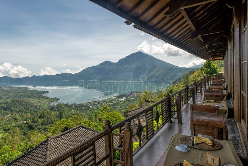 Озеро Batur и держатель Batur в Бали стоковая фотография