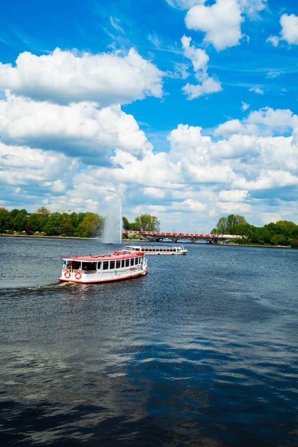 Озеро Binnenalster Гамбург стоковая фотография