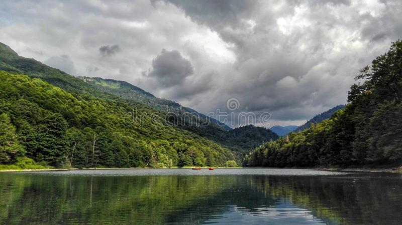 Озеро Biograd стоковое изображение