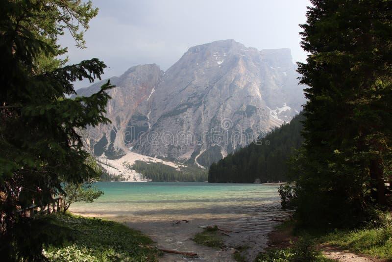 Озеро Braies стоковое фото