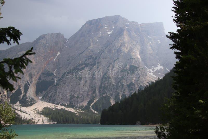 Озеро Braies стоковая фотография