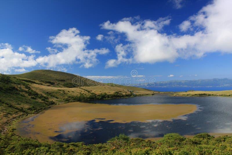 озеро caiado Азорских островов стоковое фото rf
