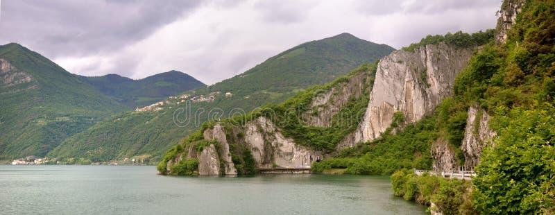 Озеро castro Iseo стоковые фото
