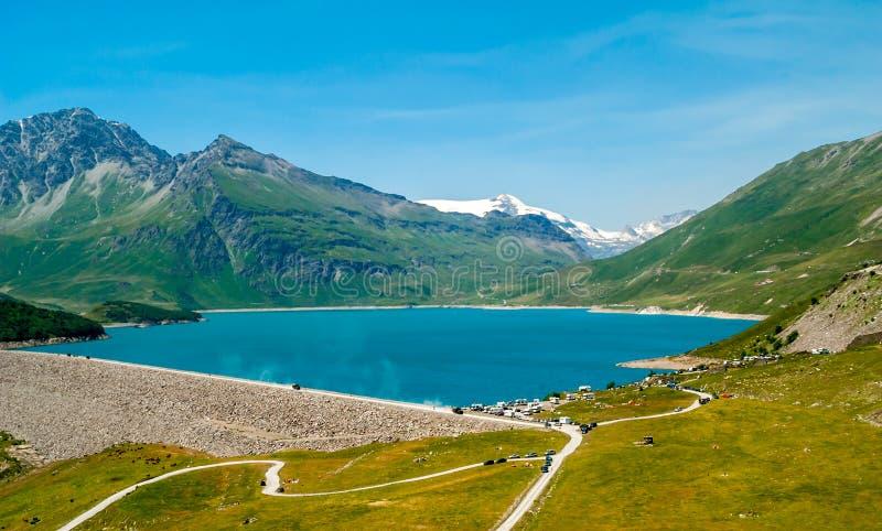 Озеро Cenis держателя стоковое изображение