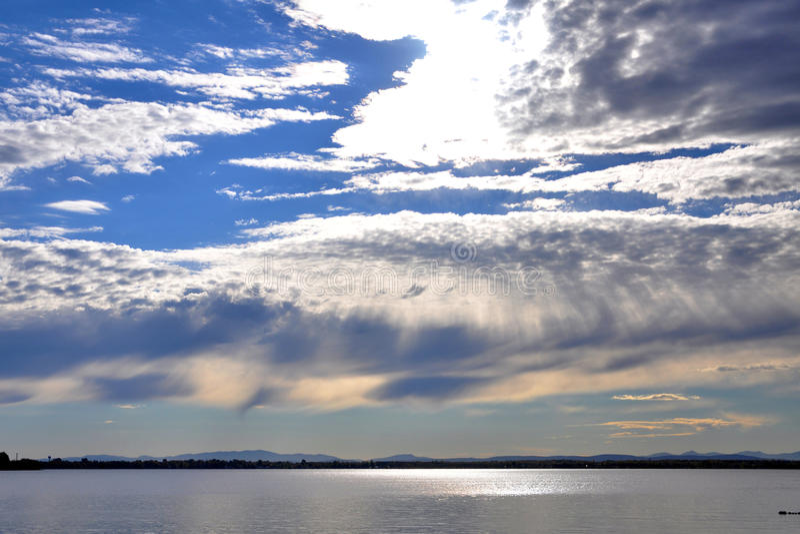 Озеро Champlain, Вермонт, США стоковое изображение