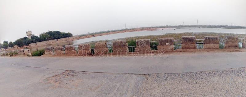 Озеро Charadva в природе Гуджарата индийской красивой стоковое изображение rf