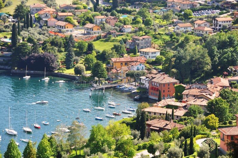 озеро como известное итальянское стоковые фото