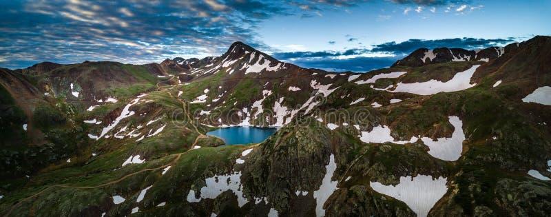 Озеро Como - пропуск Poughkeepsie, горы Сан-Хуана с инженера p стоковые изображения