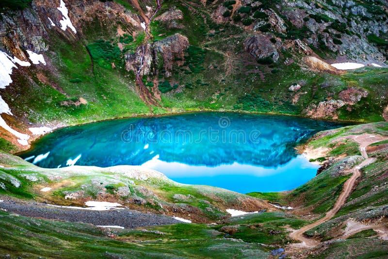Озеро Como - пропуск Poughkeepsie, горы Сан-Хуана с инженера p стоковые изображения rf