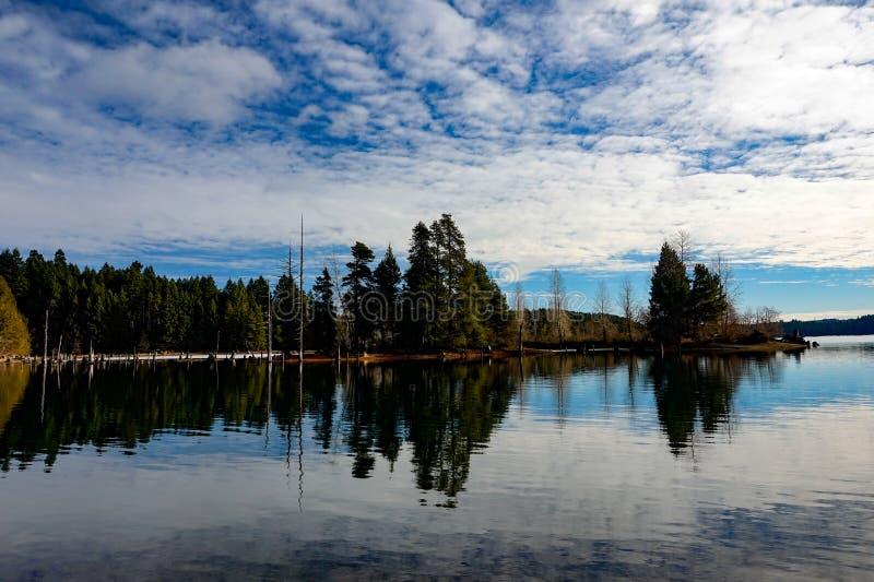 Озеро Comox, остров Comox Valley~Vancouver, ДО РОЖДЕСТВА ХРИСТОВА, Канада стоковые фото