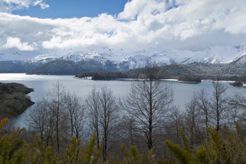 озеро conguillio стоковое фото