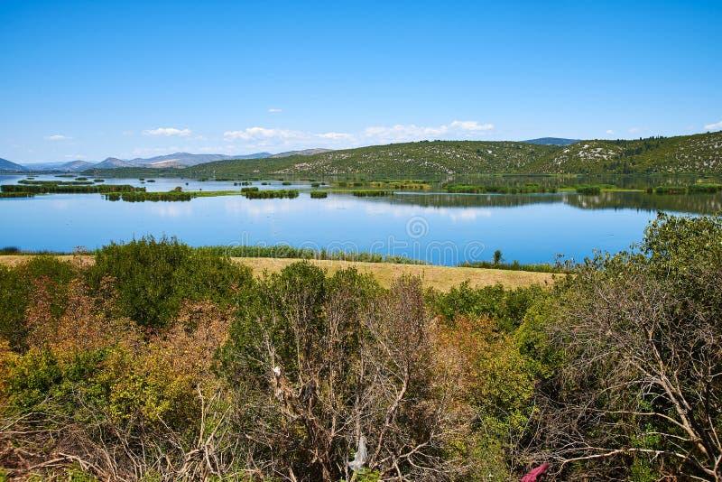 Озеро Deransko около Мостара, Босния и Герцеговина стоковые фото