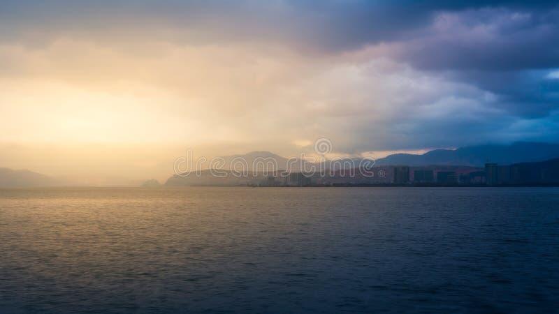 Озеро Erhai в Dali стоковые фотографии rf