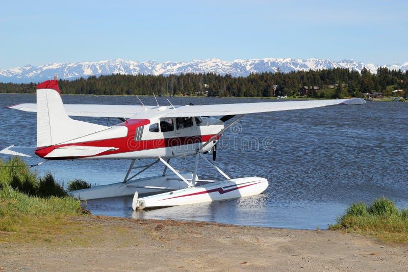 озеро floatplane белуги стоковые фото