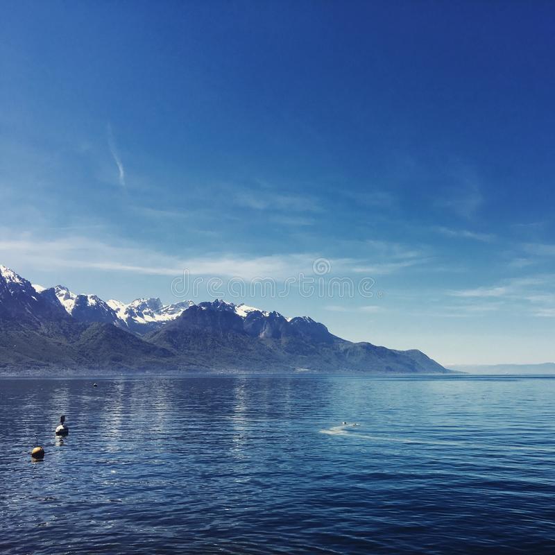озеро geneva стоковые изображения