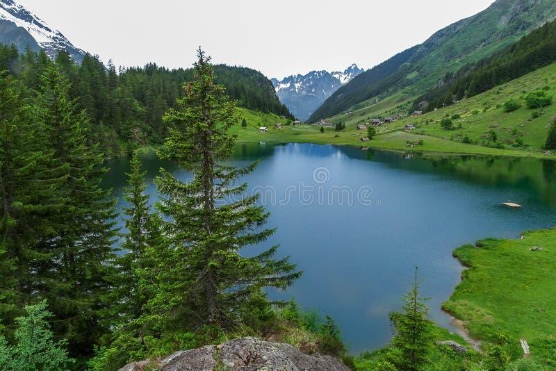 Озеро Golzern стоковые фотографии rf