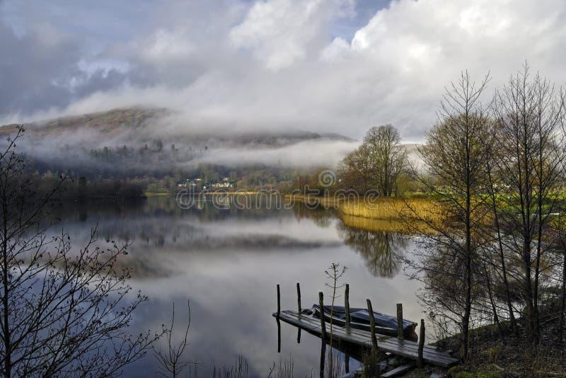 озеро grasmere стоковое изображение rf