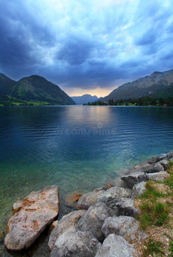 озеро grundlsee стоковое изображение rf